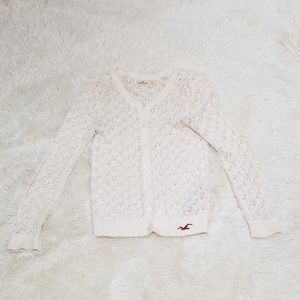 Hollister lace boho sweater cardigan top xs